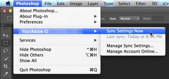 Sync Photoshop Settings 02